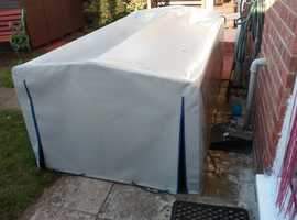 selling box top frame and cover for 7x4 trailer