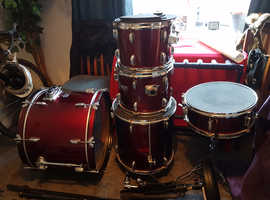 Premier Olympic 22' full drum kit in red