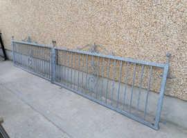 Galvanised double gates