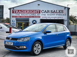 2015/15 Volkswagen Polo 1.0 SE finished in Mayan Blue.  53029 miles