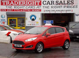 Ford Fiesta, 2013 (13) Red Hatchback, Automatic Petrol, 66,857 miles