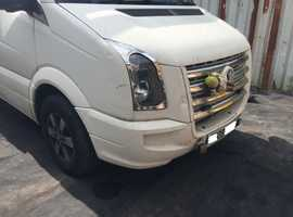2006-2011 VW CRAFTER PRE FACELIFT FRONT END WHITE GRILL WINGS BONNET BUMPER