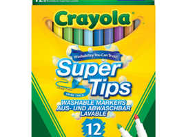 Crayola Pack of 12 Super Tips Washable Markers