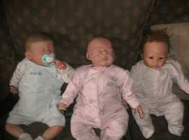 TWO REBORN BABY DOLLS AND ONE ASTON DRAKE GIRL BABY DOLL FOR SALE