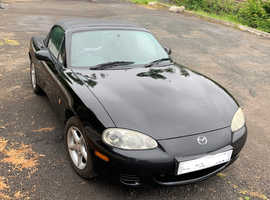 Mazda MX-5, 2001 (Y) Black Convertible, Manual Petrol, 131,000 miles