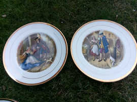 4 bone china display plates