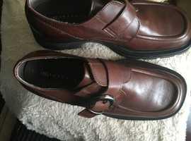 Mens skechers brown shoes