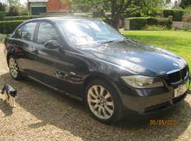 BMW 3 Series, 2007 (57) Black Saloon, Manual Petrol, 130,857 miles
