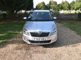 Skoda Fabia, 2012 (62) silver hatchback, Manual Petrol, 70,000 miles