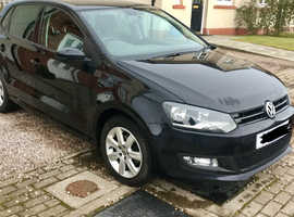 Volkswagen Polo, 2014 (14) Black Hatchback, Manual Petrol, 54,000 miles