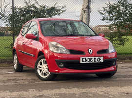 2006 (06) RENAULT CLIO 1.4 DYNAMIQUE 3 Door Hatchback in RED, MOT SERVICE HISTORY