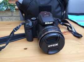 Nikon coolpix P900 camera, bag & accessories