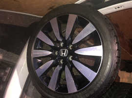 Honda Civic alloys with winter tyres