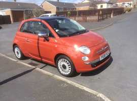 Fiat 500, 2008 (08) Red Hatchback, Manual Diesel, 49,300 miles