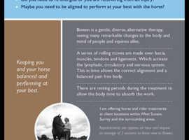 Human & Equine Bowen Therapist