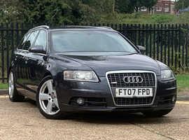 Audi A6, 2007 (07) 2.0 TDI S LINE Grey Estate, Cvt Diesel, 166,250 miles, MOT