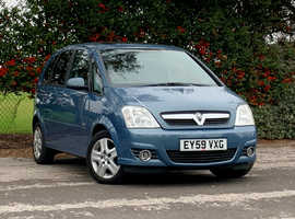 Vauxhall Meriva 1.4 DESIGN, 2010 (59) Blue MPV, Manual Petrol, 94,609 miles, NEW MOT