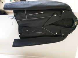 Leather motor book jacket