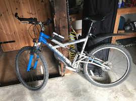 Hardly used full suspension mountain bike.