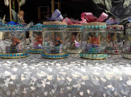 Party favours fairys in a small glass jar