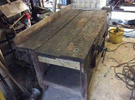 Old joiners bench large - see photos