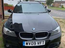 BMW 3 Series, 2009 (09) Black Estate, Manual Diesel, 120,000 miles