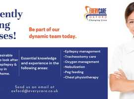 Urgently Hiring Full-time and Part-time Nurses