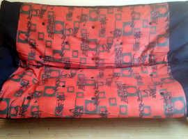 Black futon sofa-bed base (no futons)