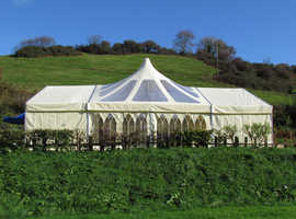 For Sale: 18 x 9m Complete 'Custom Covers' event Marque with lining & extras