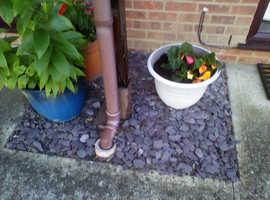 Plum slate garden stones, 40mm, approx 3 sq metres FREE