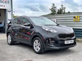 2017/67 Kia Sportage 1.6 GDi ISG 2 finished in Phantom Black Metallic.  15,850 miles