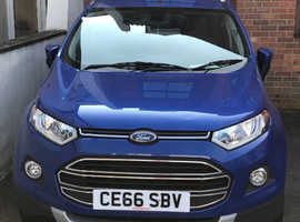 Ford ecosport, 2016 (66) Blue Hatchback, Automatic Petrol, 12,990 miles