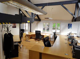 4 bright desk spaces available, WC2H