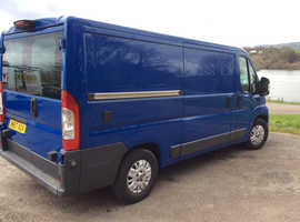 Fiat ducato mwb newly converted camper van in stunning blue