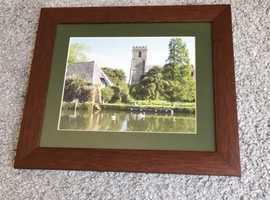 Framed photograph of St Mary's Church, Wareham