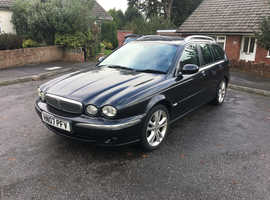 Jaguar X-TYPE, 2007 (07) black estate, Manual Diesel, 134,000 miles