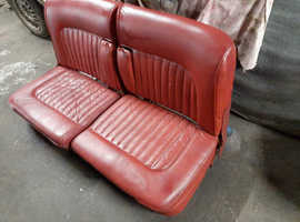DAIMLER JAGUAR MK2/V8 COMPLETE RED LEATHER INTERIOR