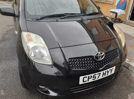 Toyota Yaris, 2007 (57) Black Hatchback, Semi auto Diesel, 95,799 miles