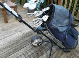 Full set 3 to sand wedge +1, 3 and5 woods +bag and trolley