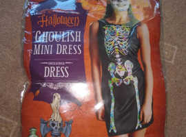 Halloween  Ladies Fancy Dress Ghoulish Mindress unused packaged
