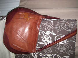 RADLEY HAND BAG BROWN LEATHER BEAUTIFUL LADYS BAG, GOOD CONDITION
