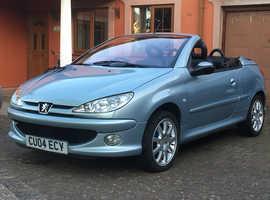 Peugeot 206 CC, 2004 (04) Grey Convertible, Manual Petrol, 106,685 miles