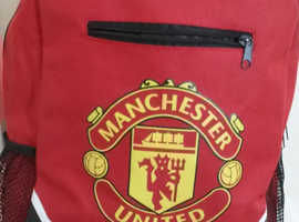 MANCHESTER. UNITED RED BACKPACK