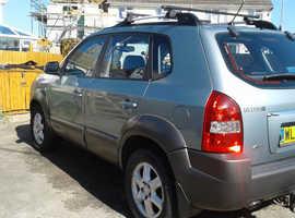 Hyundai Tucson, 2005 (55) Silver Estate, Manual Diesel, 103,750 miles