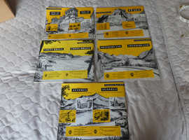VINTAGE AA CONTINENTAL ROUTE MAPS  5 IN TOTAL