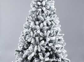 7ft Christmas Tree with snow