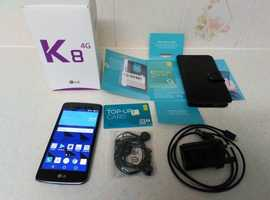 "LG K8 K350N 8GB Black 4G 5"" Display 8MP Android Unlocked Smartphone SIM Free Mint Condition £50 OVNO"