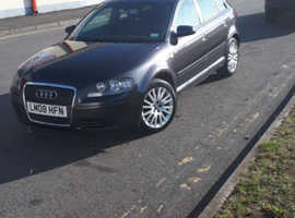 Audi A3, 2008 (08) Grey Hatchback, Manual Diesel, 108,000 miles