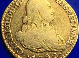 King Charles IV 22ct Gold Escudo Spanish Gold Doubloon Madrid 1792.
