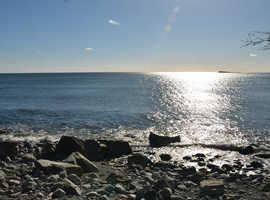 Dream plots of land at Atlantic Ocean front in Nova Scotia, Canada